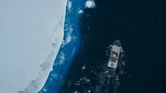 Picture shows: MAKING OF - The Blue Planet II team spent two years preparing for an expedition on the scientific research vessel M/V Alucia to bring two submersibles ('Deep Rover' and 'Nadir') to Antarctica. Their aim was to be the first humans to explore what lives a thousand metres deep.